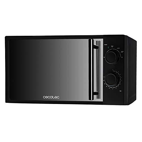 Cecotec Microondas All Black. 700 W de Potencia, Capacidad de 20 l, 6 niveles de Potencia, Temporizador 30 min, Modo Descongelar, Acabado en espejo a buen precio