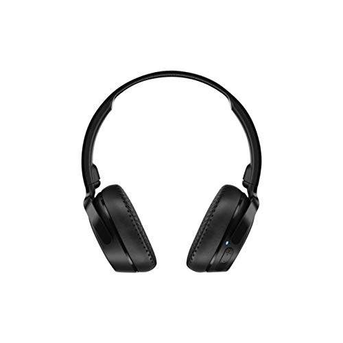 Skullcandy Riff Bluetooth On-Ear Headphones with Quick Charge 10-Hour Long Battery Life, BT Wireless Microphone, Foldable, Plush Ear Cushions with Durable Headband, Black