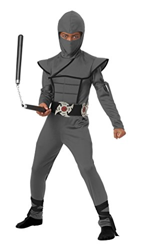California Costumes Stealth Ninja Child Costume, Gray, (Stealth Ninja Costume Child)
