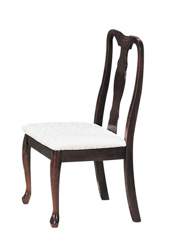 ACME 02627H Set of 2 Queen Ann Side Chair, Cherry Finish