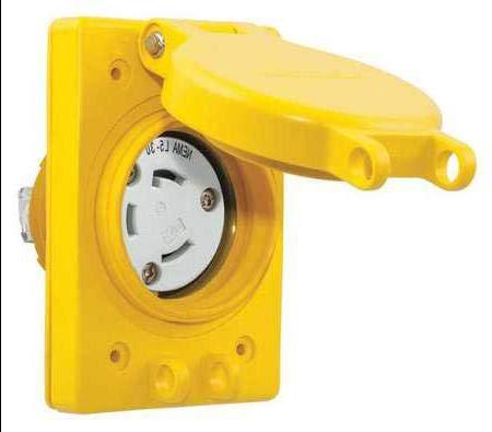 Watertight Locking Receptacle,30,Yellow