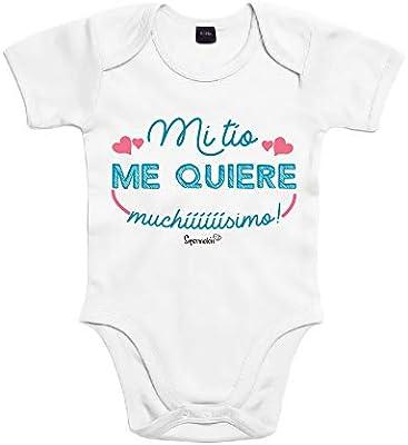 SUPERMOLON Body bebé algodón Mi tío me quiere muchísimo 3 meses ...
