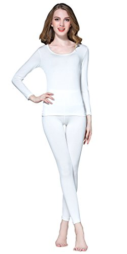 Vinconie Ladies Thermal Underwear Women Thermal Top Thermal Base Layer Ladies