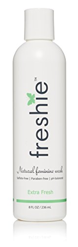 freshie Natural Feminine Care pH-Balanced Feminine Wash with Odor-Blocking, Plant Derived Ingredients for External Vaginal Cleansing - Extra Fresh (Best Natural Feminine Wash)