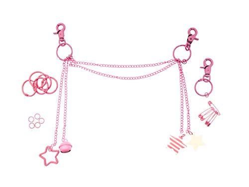 Ita Bag Chain Ita Bag Accessories DIY Accessories Ita Bag Decoration Pins, Cosplay, Comic Con PINK