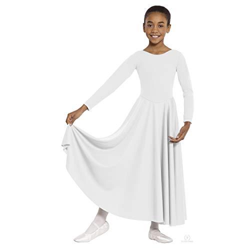 - Eurotard  13524 Child Dance Dress (White, X-Large)