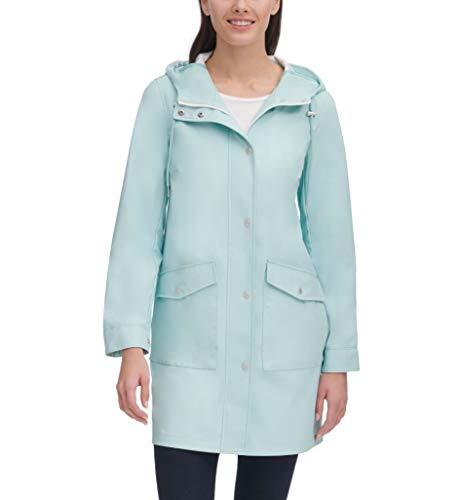 - Levi's Women's Lightweight Rubberized PU Fishtail Rain Anorak Parka Jacket, Resort Blue, Small