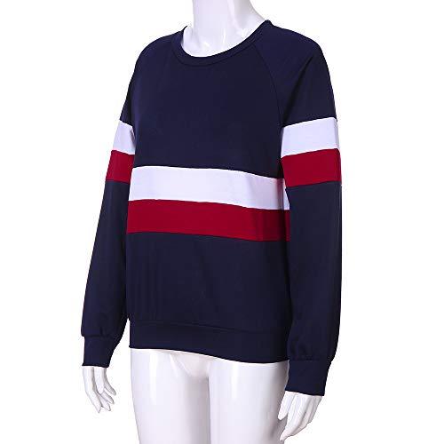 ... Camisa Cuello Pico Invierno Otoño Mujer Larga A Con Entrenamiento  Sudadera Blusa De Camisetas E Armada 44765d0fb4211