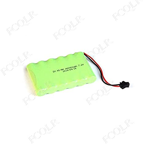 FCQLR Compatible for 2PCS Ni-Mh 7.2V AA Rechargeable Battery Pack 2400mah AA Cell for RC Car Helicopter Toys led Light Cordless Phone SM Plug