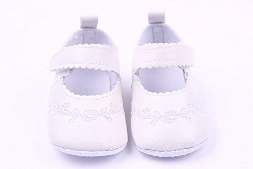 V-SOL Primeros Pasos Con Velcros Para Bebé De PU 0-1año Blanco