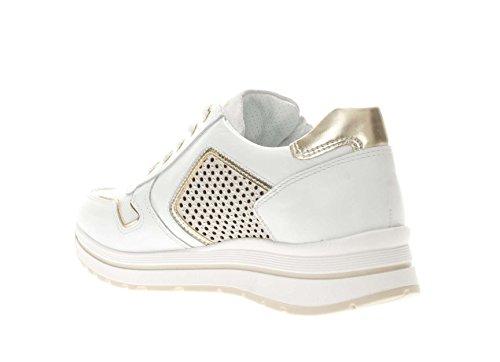 con Bianco in Borchiette Sneaker Pelle Oro Giardini Donna Nero nzxw0q
