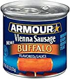Armour Vienna Sausage Buffalo Flavor, 4.75 Oz., (Pack of 12 Cans)