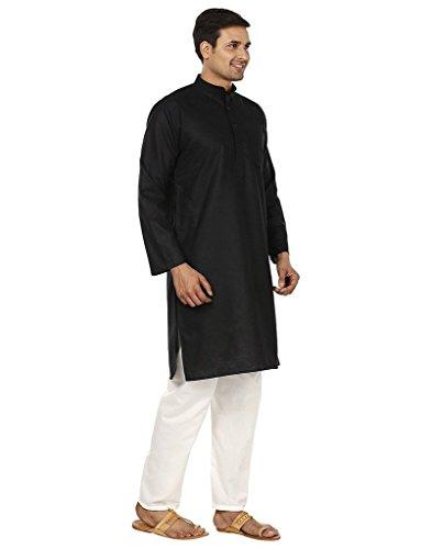 Royal Kurta Men's Superfine Linen Kurta Pyjama Set 42 Black by Royal Kurta (Image #1)