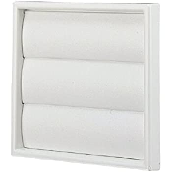 White Square Extractor Air Vent Duct Grille 100mm 4 Inch