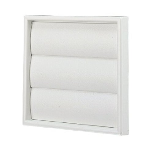 White Square Extractor Air Vent Duct Grille 100mm / 4 Inch Wall Fan Gravity Flap
