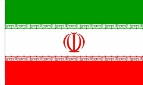 iran Drapeau Convient pour bateaux à manches 45cm x 30cm (45,7x 30,5cm) + 59MM Bouton Badge