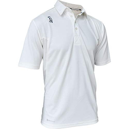 (Kookaburra 2019 Pro Players Short Sleeve Mens Cricket Whites Shirt - M)