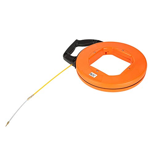 30m Fiberglass Cable Puller Running Wire Cable Set Electrical Pull Push Rods Fish Tape Kit ()