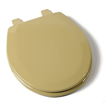 Comfort Seats C1B4R2 53 Deluxe Molded Wood Toilet Seat  Round Harvest Gold