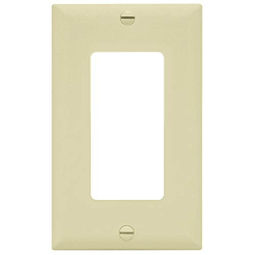 ENERLITES Decorator Light Switch or Receptacle Outlet Wall Plate, Size 1-Gang 4.88
