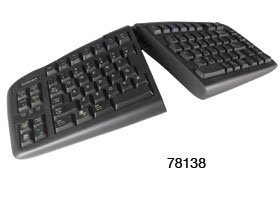 Goldtouch Adjustable Keyboard, PS/2, (Goldtouch Black Keyboard)