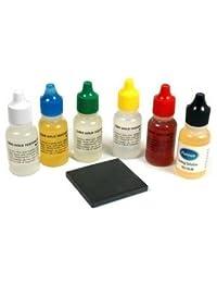 Gold and Silver Test Kit + Pro Touch Stone + 10k 14k 18k 22k Silver Platinum Testing Solution Bottles + Fake Gold & Real Silver Bullion Sample Bars