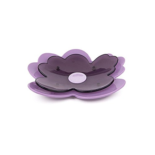 Gorgeousstyles Double Layers Purple Flowers Soap Dish of Bathroom Accessories ()