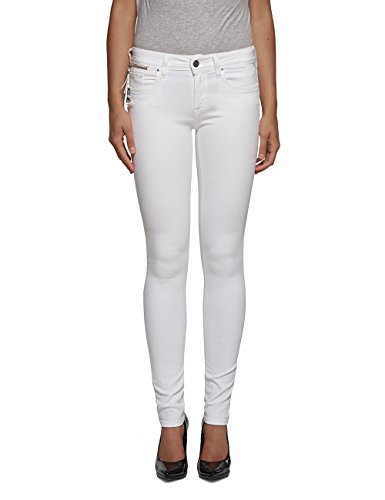 Luz 1 Coin Replay Jeans Bianco Skinny Zip Denim white Donna gZRWqw4