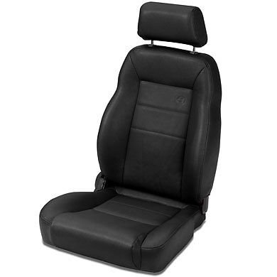 lMax II Pro Black Crush All-Vinyl Front High Back Driver-side Jeep Seat for 1976-2006 Jeep CJ and Wrangler (Bestop Jeep Seats)