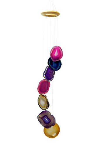 Rock Paradise 1 (ONE) Agate Slice Wind Chime Exclusive Certificate of Authenticity (Mix)