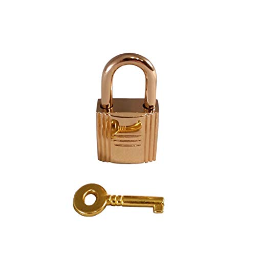 Gold Padlock & Key Handbag Purse Bag Lock Designer Leather Craft Jewelry Hardware Accessory