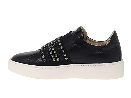 Donna Sport Janet Pelle Nero Jspo39708n Sneakers qOUOwgRxcZ