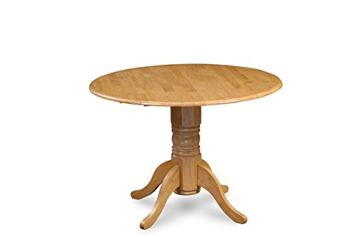 Trithi Furniture Dunes Drop-Leaf Dining Table Oak Finish