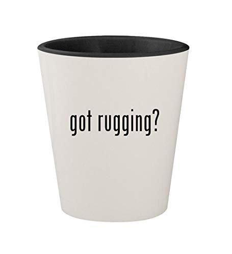 got rugging? - Ceramic White Outer & Black Inner 1.5oz Shot Glass