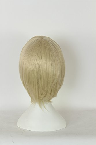 ICOSER Anime Cosplay Short Party Wigs for Women Synthetic Hair (Blond) by i-coser (Image #2)