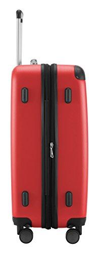 Hauptstadtkoffer Koffer Spree, 65 cm, 82L, Grün +Badehandtuch Rot