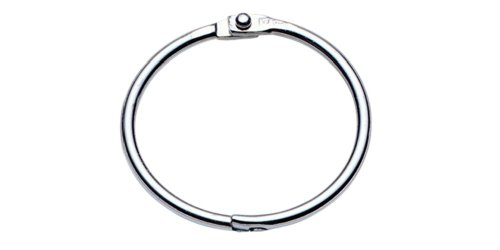 Charles Leonard Loose Leaf Rings with Snap Closure, Nickel Plated, 1.25 Inches Diameter, Silver, 100-Pack (R39)