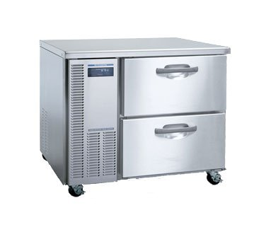 """Hoshizaki HUF40A-D 41"""" Professional Series Undercounter Freezer with 8.5 cu. ft. Capacity Stainless Steel Interior and Exterior EverCheck System Visual Alarms 2 Drawers Removable Refrigeration System and Cleanable Air Filter: Stainless"""