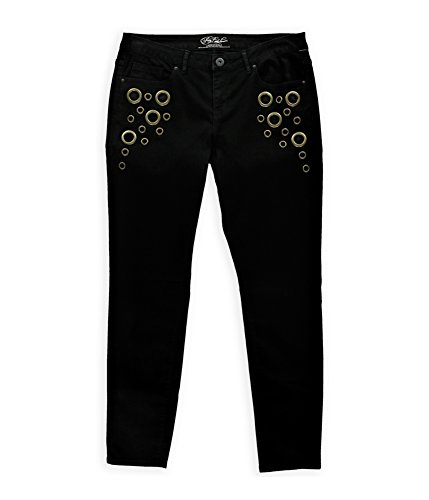 Aeropostale Womens Emily Brass Ring Jeggings Black 4x32 - Juniors by Aeropostale