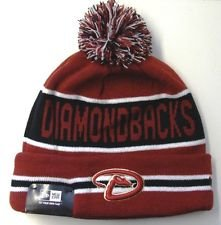 - New Era Arizona Diamondbacks The Coach Striped Cuffed Pom Knit Beanie Cap