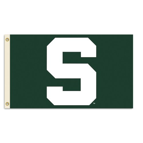 NCAA Michigan State Spartans 3-by-5 Foot Flag With Grommets