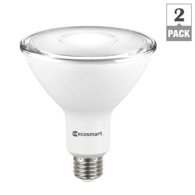 EcoSmart LED 90W Equivalent PAR38 Dimmable Flood Light Bulb 2-Pack
