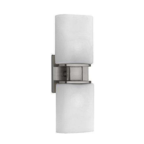 Eurofase 19418-025 Dolante 2-Light Wall Sconce, Satin Nickel/Opal White