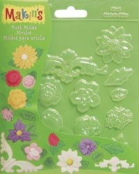 Makin's USA Push Clay Molds, Floral ()