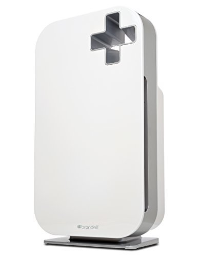 Brondell O2+ Source Air Purifier with True HEPA and Carbon Filtration for Odor and VOCs (White) by Brondell