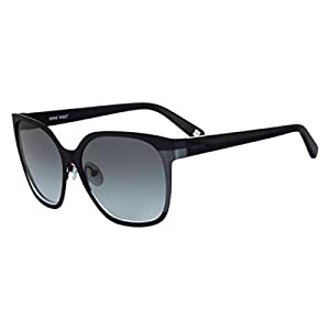Nine West Womens Oversized UV Protection Square Sunglasses Navy O/S