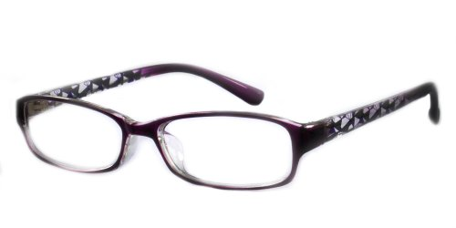 (EyeBuyExpress Rectangle Violet Reading Glasses Magnification Strength 3)