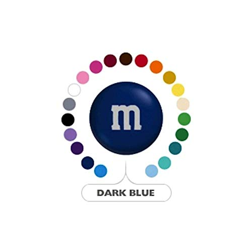 M&M's Dark Blue Milk Chocolate Candy 1LB Bag -
