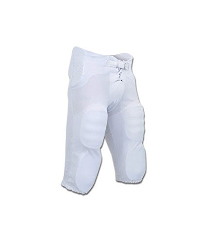 CHAMPRO Football Adult Integrated Practice/Game Pants w/Built-in Pads (White, XXL) Champro Dazzle Football Pants