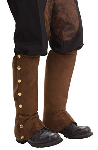 Forum Novelties Men's Adult Steampunk Suede Spats Costume Accessory, Brown, One Size